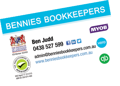 Gold coast cards business cards gold coast business cards australia bennies bookkeepers mermaid waters qld reheart Choice Image